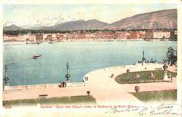 Suisse - GE Genève - Quai Des Eaux Vives Et Le Mont-Blanc - GE Genève