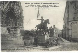 51 - Marne - Reims Guerre 1914-1918 - Place Du Parvis, Bombardements - Hôtel Lion D'or - Kommandatur - Reims