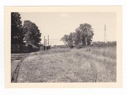 77 PHOTO Dentelée Des Années 50 Train Wagon Ligne CFD Montereau Château Landon Vers Montereau - Trains