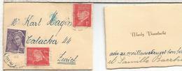 FRANCIA SOBRE DIMINUTO 8X6 CM CON TARJETA DE VISITA - 1941-42 Pétain