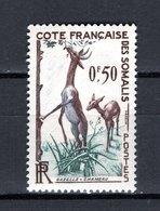 COTE DES SOMALIS N° 289 NEUF SANS CHARNIERE COTE 2.40€ ANIMAUX GAZELLE - Französich-Somaliküste (1894-1967)