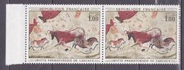N° 1555 Oeuvres D'Art: Grotte De Lascaux: Une Paire De 2 Timbres  Neuf Impeccable - Neufs