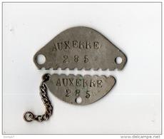 AUXERRE N°285 . PLAQUE D'IDENTITÉ MILITAIRE DE 1936 . ALTENBACH BERNARD - Réf. N°6M - - Army & War
