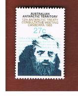 TERRITORI ANTARTICI AUSTRALIANI (AAT AUSTRALIAN ANTARCTIC TERRITORY) SG 60 - 1983 ANTARCTIC TREATY  -  USED - Territorio Antartico Australiano (AAT)
