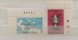 Trinidad & Tobago 1976 West Indian World Cup Cricket Victory Set And Sheet MNH - Trinidad & Tobago (1962-...)