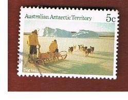 AAT AUSTRALIAN ANTARCTIC TERRITORY - SG 64 - 1984 ANTARCTIC SCENES: DOG TEAM  -  USED - Usati