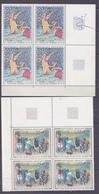 N° 1457 à 1458 Oeuvres D'Art: Série En Blocs De 4 Timbres Impeccable - Neufs