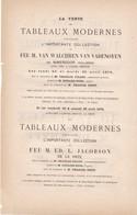 VENTE Aux ENCHERES 1876  A  DROUOT  DES TABLEAUX MODERNES DE COLLECTION DE FEU MR VAN  WALCHEREN _ - Non Classés