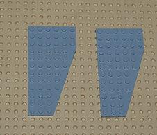 Légo Lot 2 X Plate Aile Left Gauche 6x12 Grise Ref 30355 - Lego Technic