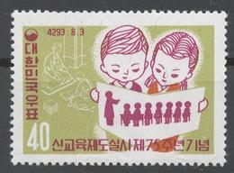 Korea South 1960 Mi# 304** 75th ANNIV. OF THE MODERN EDUCATIONAL SYSTEM - Corea Del Sud
