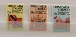 Trinidad & Tobago 1977 Inauguration Republic Set And Sheet MNH - Trinidad & Tobago (1962-...)