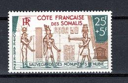 COTE DES SOMALIS PA N° 37  NEUF SANS CHARNIERE COTE 12.00€  MONUMENTS DE NUBIE - Französich-Somaliküste (1894-1967)