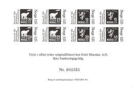Norway 1978 Souvenir Bloc For Exhibition Nidarø 78, Unused, Blackprint, Number Can Be Different - Briefe U. Dokumente