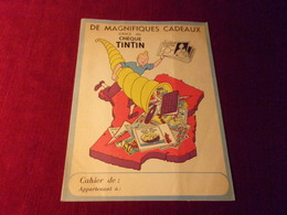 PROTEGE CAHIER  TINTIN   °°  GRACE AU CHEQUE TINTIN - Protège-cahiers