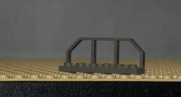 Légo Lot 4 X Barrière De Train Ref 6583 Gris Foncé - Lego Technic