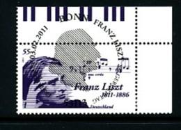 GERMANY Mi.Nr. 2846 200. Geburtstag Von Franz Liszt  - ESST Bonn- Eckrand Oben Rechts - Used - BRD