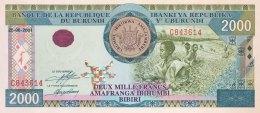 Burundi 2.000 Francs, P-41a (25.06.2001) UNC - Burundi
