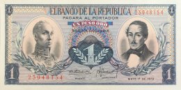Colombia 1 Peso Oro, P-404e (1.5.1970) UNC - Colombia
