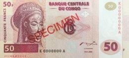 Congo 50 Francs, P-91s (4.1.2000) - Specimen Nr. 0005 - UNC - Kongo