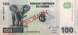 Congo 100 Francs, P-92s (4.1.2000) - Specimen  - UNC - Kongo