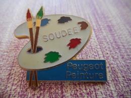 A001 -- Pin's Peugeot Peinture Soudee -- Exclusif Sur Delcampe - Peugeot