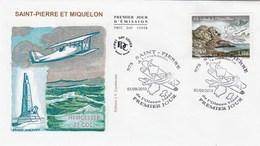 St Pierre Et Miquelon FDC 2010  A La Recherche De L'oiseau Blanc - Avion Aviation - FDC