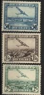 PIA - BEL -  1930 -  Posta Aerea - Aerei Che Sorvolano Panorami Diversi -  (Yv P.A. 1-5) - Posta Aerea