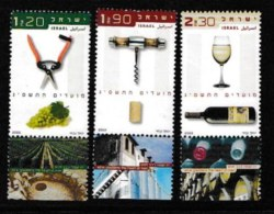 ISRAEL, 2002, Mint Never Hinged Stamp(s) , Wine In Israel, M1694-1696,  Scan M17209, With Tab(s) - Israel