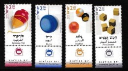 ISRAEL, 2002, Mint Never Hinged Stamp(s) , Children's Games, M1702-1705,  Scan M17213 With Tab(s) - Israel