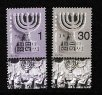 ISRAEL, 2002, Mint Never Hinged Stamp(s) , The Menorah, M1710--1711,  Scan M17215, With Tab(s) - Israel