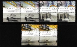ISRAEL, 2003, Mint Never Hinged Stamp(s) , The Wright Brothers, M1716--1718,  Scan M17219, With Tab(s) - Israel