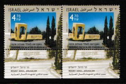 ISRAEL, 2003, Mint Never Hinged Stamp(s) , Victims Of Hostile Acts, M1720,  Scan M17229, With Tab(s) - Israel