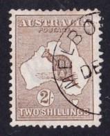 Australia 1913 Kangaroo 2/- Brown 1st Watermark CTO No Gum - - - 1913-48 Kangaroos