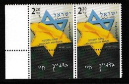 ISRAEL, 2003, Mint Never Hinged Stamp(s) , Holocaust, M1724,  Scan M17231, With Tab(s) - Israel