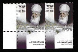 ISRAEL, 2003, Mint Never Hinged Stamp(s) , Sheikh Ameen Tarif, M1732,  Scan M17243, With Tab(s) - Israel