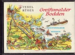 Greifswald - Übersichtskarte 1   Greifswalder Bodden - Greifswald