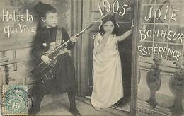 - Themes - Ref.A921 - Militaria -  Petit Zouave - Zouaves - Bonne Année 1905 - Fête - Nouvel An - Fêtes - Enfants - - Autres