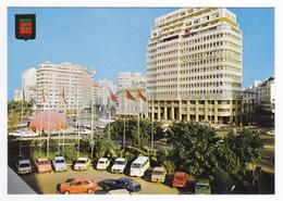 Casablanca N°90 Place Mohamed V En 1981 Alfa Fiat Citroën GS Renault R16 R5 Mini Bus VW Comptoir Lorrain Au Maroc Banque - Casablanca