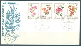 PAPUA NEW GUINEA - FDC  - 7.12.1966 - FLOWERS - Yv 101-104 -  Lot 17695 - Papouasie-Nouvelle-Guinée