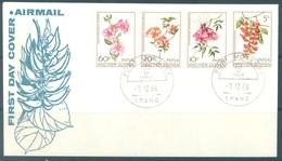 PAPUA NEW GUINEA - FDC  - 7.12.1966 - FLOWERS - Yv 101-104 -  Lot 17695 - Papua-Neuguinea
