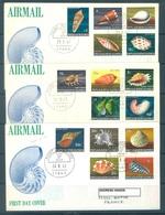 PAPUA NEW GUINEA - FDC  - 28.8.1968 30.10.1968 29.1.1969 - SHELLS COMPLETE SET - Yv 138-152 -  Lot 17696 - Papua-Neuguinea
