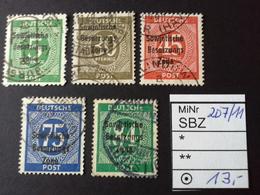 SBZ Mi. 207/11 -Satz Mit Luxusspl. - Zone Soviétique