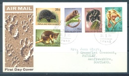 PAPUA NEW GUINEA - FDC  - 31.3.1971 - FAUNE - Yv 196-200 -  Lot 17697 - Papouasie-Nouvelle-Guinée