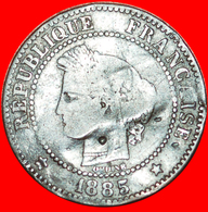 # CERES (1877-1897): FRANCE ★ 2 CENTIMES 1885A! MULE: A FROM 5 CENTIMES! LOW START ★ NO RESERVE! - B. 2 Centesimi