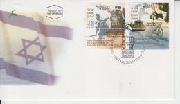ISRAEL 1997 GACHAL RECRUITMENT SOLDIERS IN THE DIASPORA MACHAL OVERSEAS VOLONTEERS INDEPENDENCE WAR FDC - FDC
