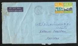Hong Kong China Air Mail Postal Used Aerogramme Cover HongKong To Pakistan - 1997-... Sonderverwaltungszone Der China