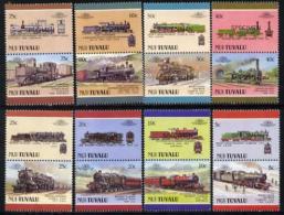 3405 Tuvalu - Nui 1988 Locomotives #4 (Leaders Of The World) (railways Trains) U/m Set Of 16 SPECIMEN - Tuvalu