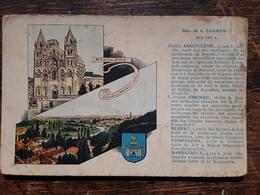 Charente,ANGOULEME , COGNAC, RUFFEC CONFOLENS BARBEZIEUX, Vues Blason, Carte Pub Pastilles VALDA, Vers 1920 - France