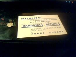 Ticket D Entree  Theatre BOBINO   A Montprnasse  Pour Le Spectacle Barbara Bedos Annee1966 - Tickets D'entrée