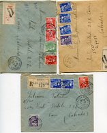 CORRREZE De BORT LES ORGUES  3  Env. Recom. De  1951  à 1952 Avec Dateur  A 6 Et A 7 - Postmark Collection (Covers)